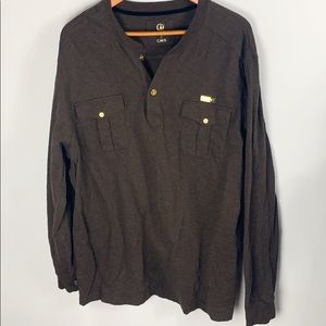 Cavi Brown Henley Size 3Xl